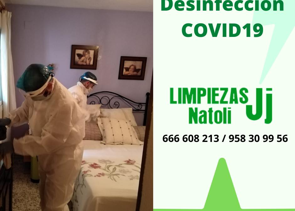 Servicio especial de desinfección Covid19 en Granada